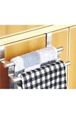 New Over Cabnit Door Double Towel Bar Stainless Steel Kitchen, Bath, Laundry