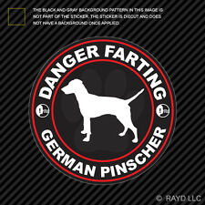 Danger Farting German Pinscher Sticker Decal Self Adhesive Vinyl dog canine pet