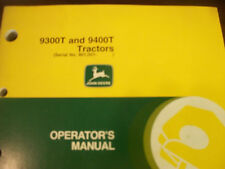 John Deere Tractor Operator'S Manual 9300T And 9400T Tractors Issue J0