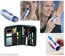 Wizzit Hair Removal Trimmer Tweezer Epilator With Manicure Set & Carrying Bag