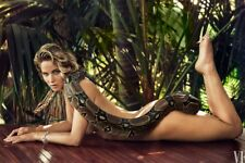 GLOSSY PHOTO PICTURE 8x10 Jennifer Lawrence Naked With The Snake Over