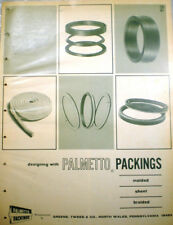 1967 PALMETTO PACKINGS Greene Tweed Catalog ASBESTOS Sheet Molded Packing Valves