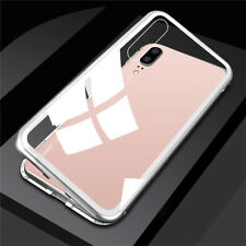Full Magnetic Case 360 Edge Metal Tempered Glass Cover For Huawei P20 Pro Case