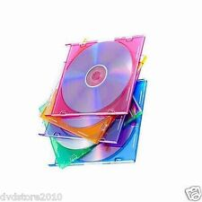 50 CUSTODIE SLIM 5.2mm DVD SINGOLE COLORATE per CD DVD -R  verbatim custodia *