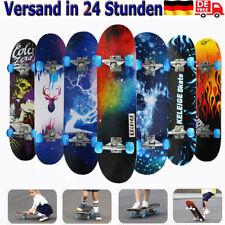 Skateboard Deck Funboard Holzboard komplett Cruiser Miniboard 80x20cm Ahornholz