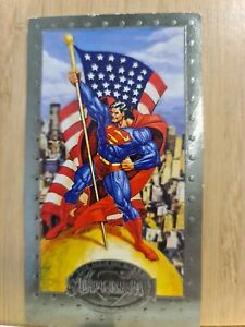 SUPERMAN🏆1994 Widevision Skybox #89 LARGE Trading Card🏆FREE POST