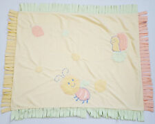 Bright Future Baby Security Blanket Bumblebee Snail Green Yellow Fringe Lovey