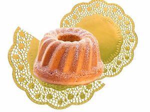 8 x Tortenspitze Gold rund 36 cm (2Pck) Kuchen Spitzenpapier Dekospitze Gold