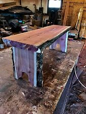 Live Edge Red Cedar Slab Bench Kit 72""