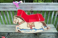 Vintage Original Wooden Horse Child'S Rocker 6 month & Up, Boys & Girls 1960's