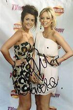 Sacha Parkinson & Brooke Vincent Signed 12x8 Photo UACC Registered dealer COA
