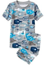 NEW Gymboree Baby Toddler Boys 12-18 mos Nautical 2-Piece Shorts Gymmies Pajamas