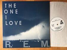 """R.E.M. - The One I Love -  promo 12"""" single - 1987"""