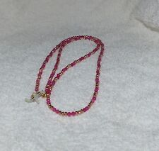 glasses sunglasses chain necklace pink spectacle cord genuine pink quartz