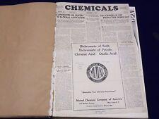 1932 JAN-DEC CHEMICALS MAGAZINE BOUND VOLUME PRICE TRENDS IMPORTS ADS - KD 662