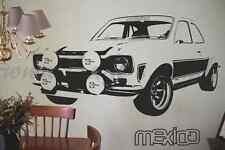 Vinyl wall art 70's retro popular classic car, Rally. Man cave, Garage, Bedroom