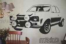 Vinyl wall art Ford Escort Mexico 70's retro car