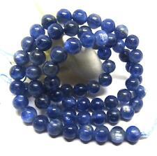 """RARE NATURAL CATS EYE CORNFLOWER BLUE KYANITE ROUND BEADS 6mm 15.75"""" STRAND AAA"""