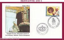W462 VATICANO FDC ROMA GIOVANNI PAOLO II WOJITYLA PERù LIMA 1988
