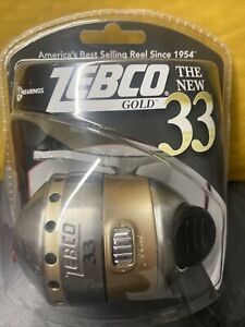 Zebco 33 GOLD Fishing Reel ZS3873 Spincast Caster 3-Bearing 3.6:1 Brand New