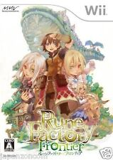 Used Wii Rune Factory Frontier JAPAN JP JAPANESE JAPONAIS IMPORT