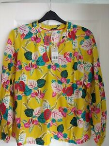 BODEN  HEATHER TOP BLOUSE SHIRT DAFFODIL HOLIDAY TROPIC. UK 18, EUR 44-46. BNWT