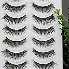 10 Paare Wimpern Kunstwimpern Kunstseide Makeup Damen Mode Kosmetik Neu