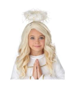 Child Angel Wig Blonde Costume Cosplay Golden Hair Girls Children Heaven Gift