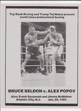 BRUCE SELDON vs ALEX POPOV OFFICIAL ONSITE BOXING PROGRAM JANUARY 24,1993