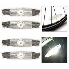 4 Stück Weiß Fahrrad Rad Reflektor Sicherheit für Straße Berg FAHRRAD Set