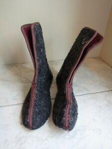 Thinsulate Insulation Winter Boots Liners Dk Gray Wool Felt Men's Size 7