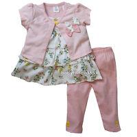New Ashley's Baby Girls 3 pieces Cardigan Shirt Legging Size 12 18 24 months