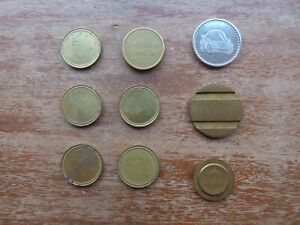 9 x assorted TOKENS - 'EUROCOIN LONDON' & 'MAM' + PLAIN - SEE PHOTOGRAPHS