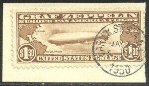 U.S. #C14 Used BEAUTY - 1930 $1.30 Graf Zeppeiln ($350)