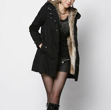 Faux Fur Cotton Blend Plus Size Coats & Jackets for Women