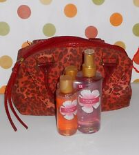 Victoria's Secret Ravishing Love Cheetah Print Satchel Handbag & 3 Piece Set NEW