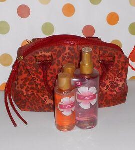 Victoria's Secret Ravishing Love Cheetah Print Satchel Handbag & 3 Piece Set NEW