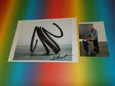 Bernar Venet  Kunst Art signiert signed Autogramm auf 20x28 Foto in person