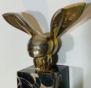 Vintage GASTON LACHAISE BUMBLE BEE Art Deco Hood Ornament SCULPTURE PAPERWEiGHT