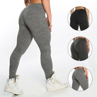 HOT Women High Waist Yoga Sports Gym Pants Sexy Scrunch Elastic Push Up Leggings