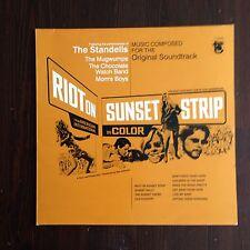 RIOT ON SUNSET STRIP OST COLONNA SONORA LP FREAKBEAT PSYCH GARAGE MOD Standells