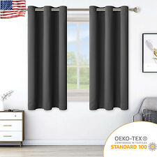2 Panels Blackout Curtains Insulated Window Drapes With Grommet for Bedroom