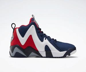 """NWB {FV9295} Men's Reebok Kamikaze II """"USA"""" Kemp OG Retro Basketball Shoes"""