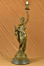 Bronze Large Size Home Decorations Lady Statues Bronze Art Women Candle Holder S