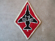 1980's F4 Phantom Iceland Red Twill Fighter Pilot Squadron Patch