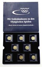 8 x Gedenkmünzen Olympische Spiele Peking 2008, NOK Collection, Messing, NEU!