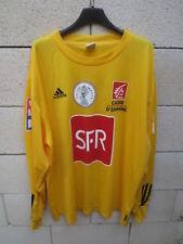 Maillot COUPE de FRANCE 2004 porté 14 ADIDAS jaune ancien maglia SFR Pasquier XL