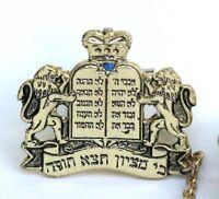 Tallit Clips w/Torah Crown 10 Commandments Kosher Prayer Shawl Tallis Synagogue