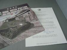 BROCHURE ONLY(NO CAR)-1/24-FRANKLIN MINT-GEORGE S. PATTON'S M4-A3 SHERMAN TANK
