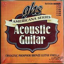 2x6 CORDES BRONZE GHS MEDIUM ACOUSTIC GUITAR STRINGS 13-56 AmericanSeries CR435